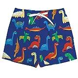 Vogseek Summer Boys Quick Dry Beach Shorts Dinosaure 3D Printting Boardshort Maillots de Bain avec Cordon de Serrage/Pocket Bleu