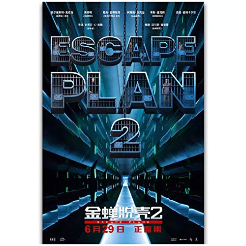 wzgsffs Escape Plan 2 Hades 2018 New Movie Wall Art Poster And Prints Print On Canvas For Living Room Decorative Cafe-16X24 Inchx1 Frameless