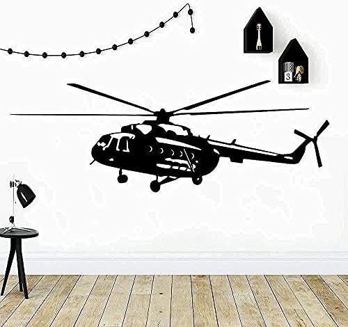 TJVXN Pegatinas de Pared calcomanías de Arte decoración helicóptero jardín de Infantes decoración del hogar decoración de la habitación 43X122cm