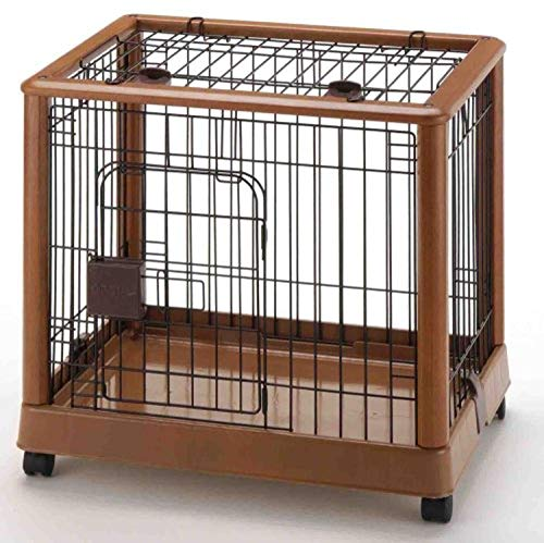 Richell Wood Mobile Pet Pen 640, Autumn Matte Finish