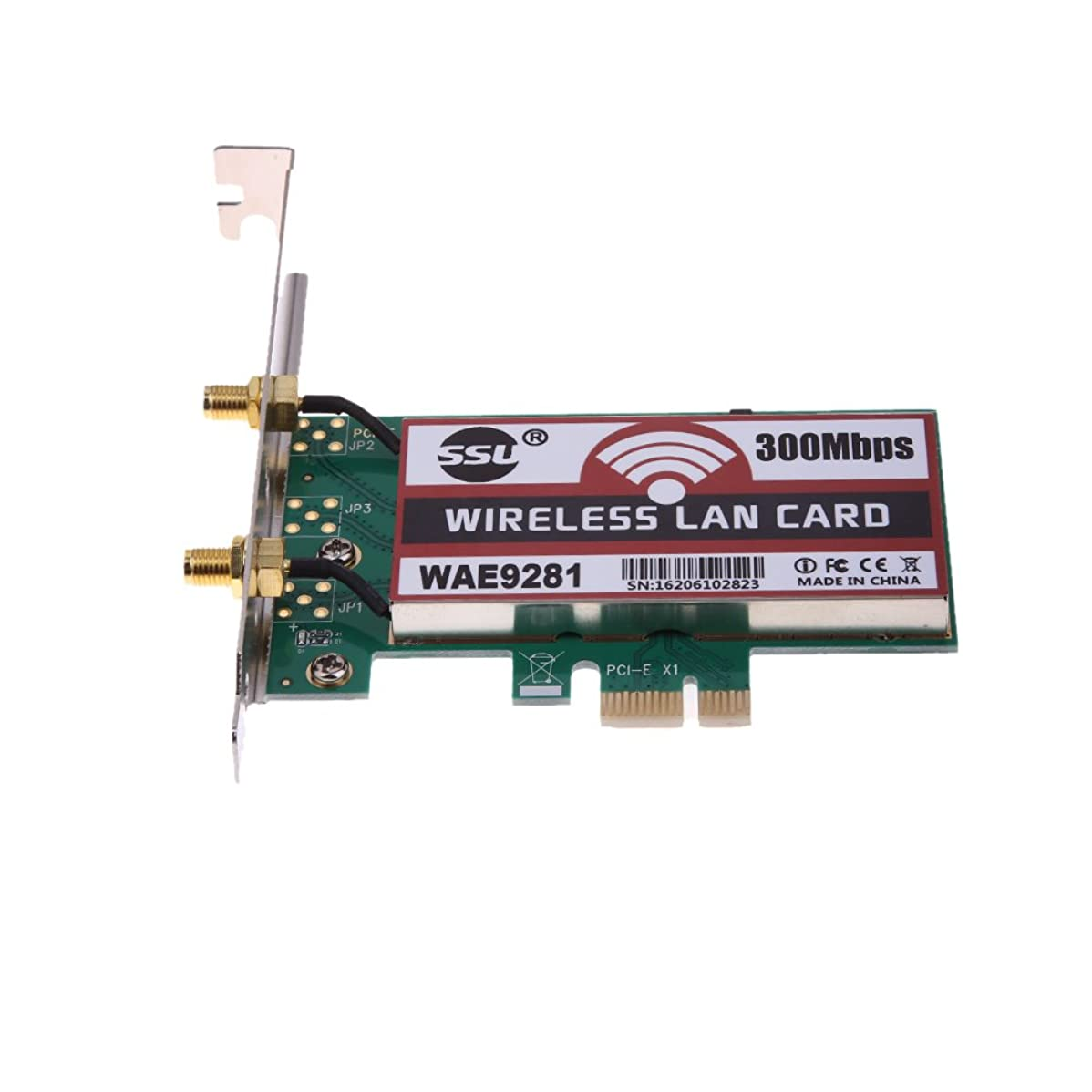 早熟巻き取り性能vanpower PCI - Express 300?MbpsワイヤレスWiFiカードアダプタ