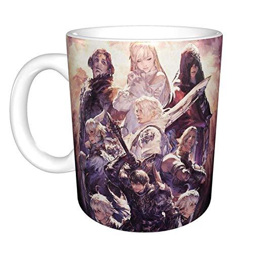 N\A Taza de café de cerámica Divertida única Final Fantasy XIV, Taza de té de café de Oficina en casa para Regalo de Festival novedoso