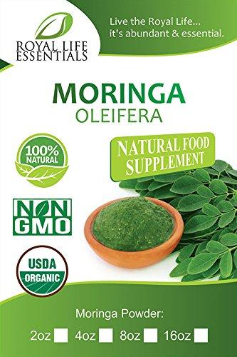 Moringa Oleifera Leaf Powder العضوية