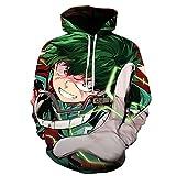cshsb Sudaderas Hombres Anime con Capucha Sweater Figura Bakugo Camiseta de Anime Mangas Largas,B,M-L