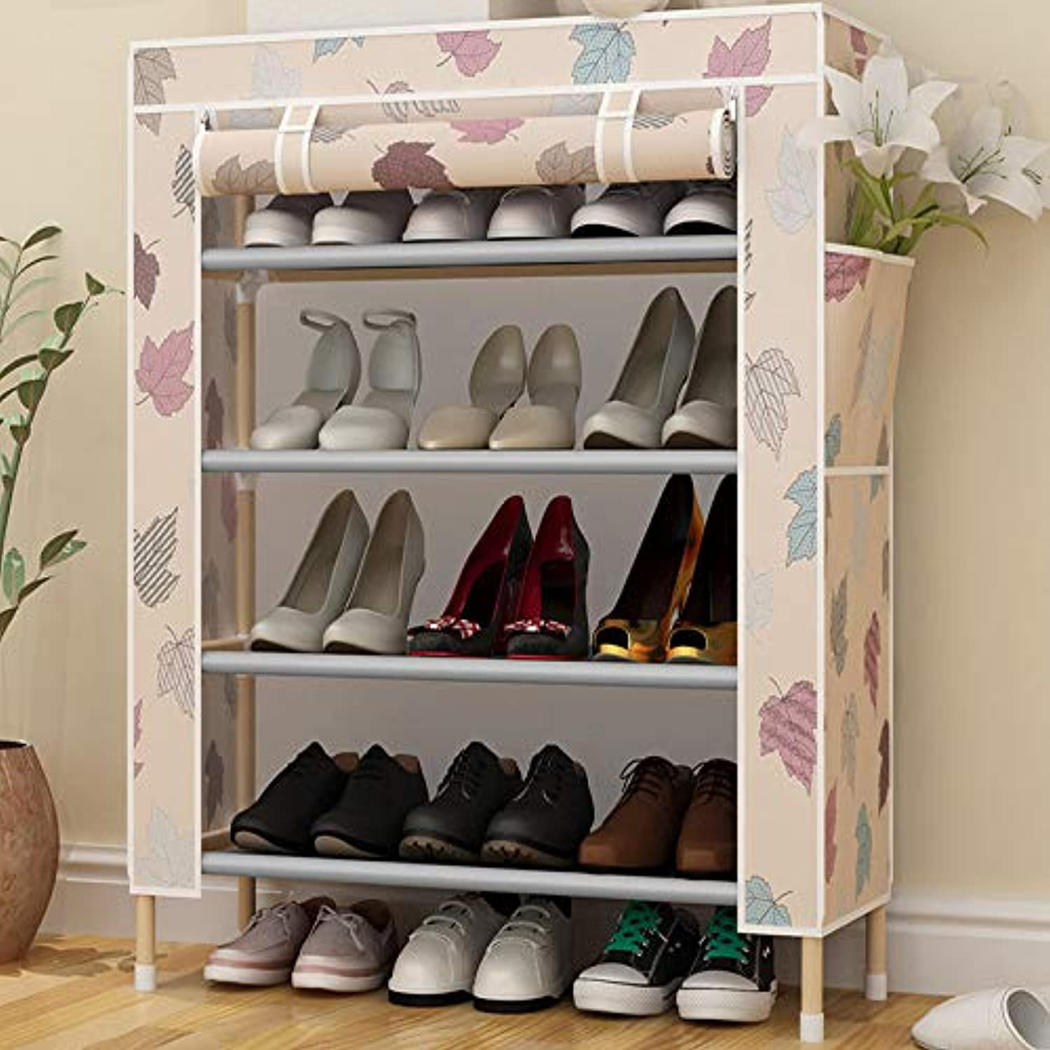 Simple Home, Storage shoes Cabinet, Dustproof Storage Cabinet Twill Square