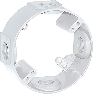 Sigma Electric, White 14236WH 1/2-Inch 4 Hole Round Extension Ring