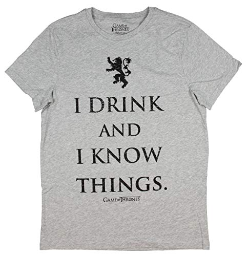 Playera de Game of Thrones para Hombre I Drink and I Know Things Lannister
