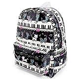 リュックサック ピアノの上で踊る黒猫ワルツ(ブラック) N0721400
