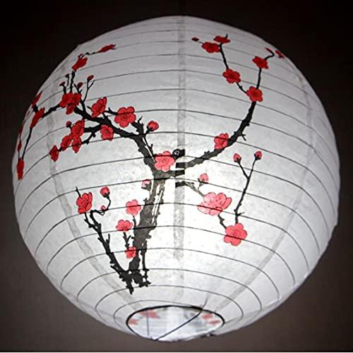 Para visitas de verano de verano, bodas, fiesta de cumpleaños, 2 unids/lote 12'/ 30 cm Flor Linternas Festival Japonés Chino Festival Retro Linterna Linterna Bolas Boda Cumpleaños Fiesta Decoración