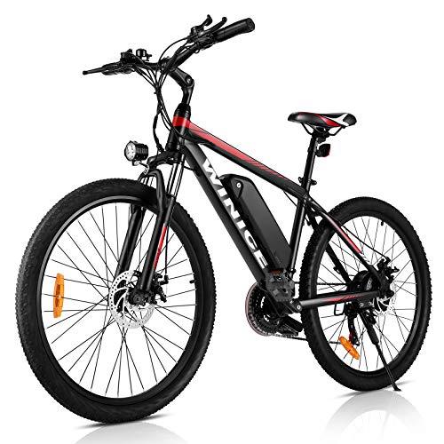 VIVI Bicicleta eléctrica de montaña 26/27.5 Pulgadas, Motor de 350 W, 36...