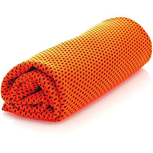 冷却タオル 選べるカラー クールタオル 冷感 ひんやり 熱中症対策グッズ 冷感 速乾 冷却 スポーツタオル 無限 に冷たい 16℃ アウトドア 登山 釣り スーパークール アウトドア スポーツ 首 子供も使える 冷える(オレンジ1枚)