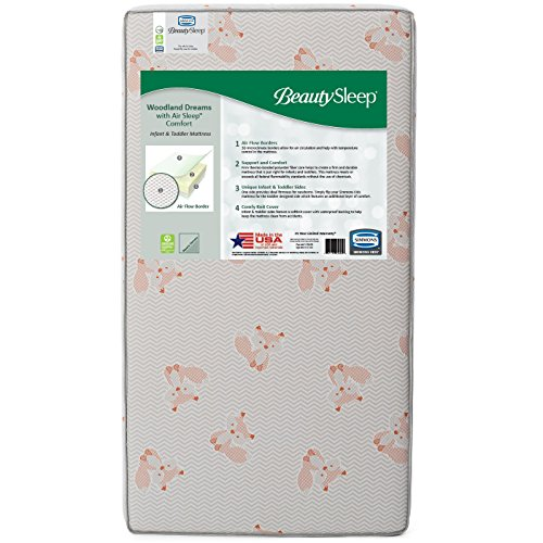 Read About BeautySleep Woodland Dreams with Air Sleep Comfort Fiber Core Crib and Toddler Mattress, ...