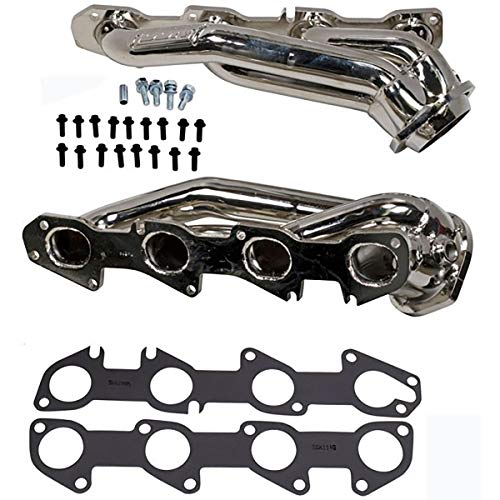 BBK Performance 4028 Exhaust Headers (11-17 Dodge Hemi 5.7L Shorty Tuned Length - 1-3/4in Chrome), 1 Pack