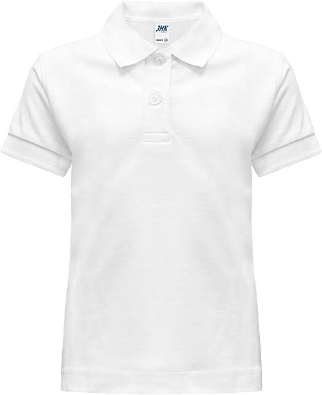 Polo camiseta camiseta dividida escolar blanca Manga corta tallas de 1 A 14 años 1-2 anni bianco