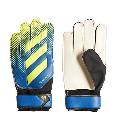 adidas Performance X Training Goalie Gloves, Football Blue/Solar Yellow/Black, Size 12