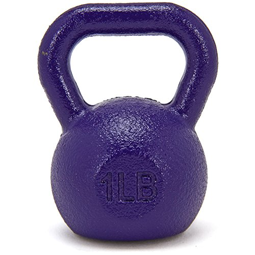 Fringe Sport 1lb Mini Kettlebell/Paper Weight, Small Gift Idea, Stocking Stuffer for Fitness Enthusiast or Athletes (Purple)