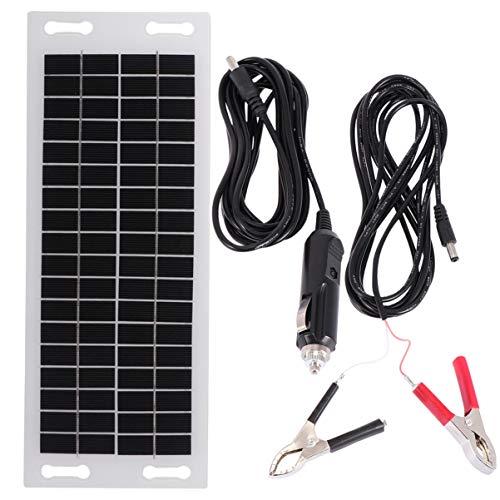 DOITOOL Monocrystalline 5W Solar Panel Portable Mono Solar Panel Solar Cell Grade Battery Charger Backup for Car Boat Batteries