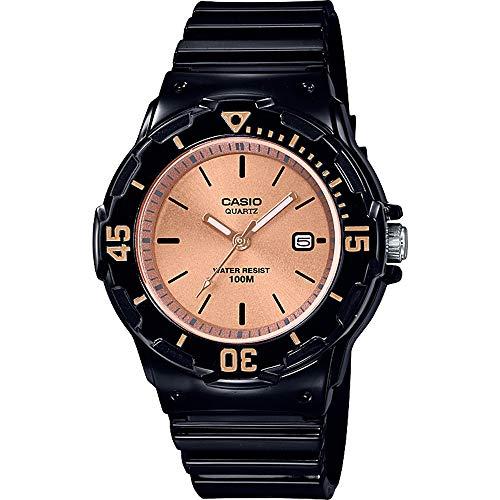 CASIO Damen Analog Quarz Uhr mit Harz Armband LRW-200H-9E2VEF