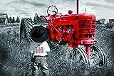 Tractor Rojo dilapidado y niño pequeño - Adultos Puzzle 1500 Piezas Niños De Madera Juego Clásico Puzzle Toys Puzzles