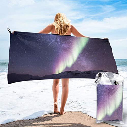 Toalla de playa de microfibra para piscina, de secado rápido, ligera, sin arena, para viajes al aire libre, manta de micro fibra, alfombrilla fina, personalizada, para mujeres, hombres, adultos
