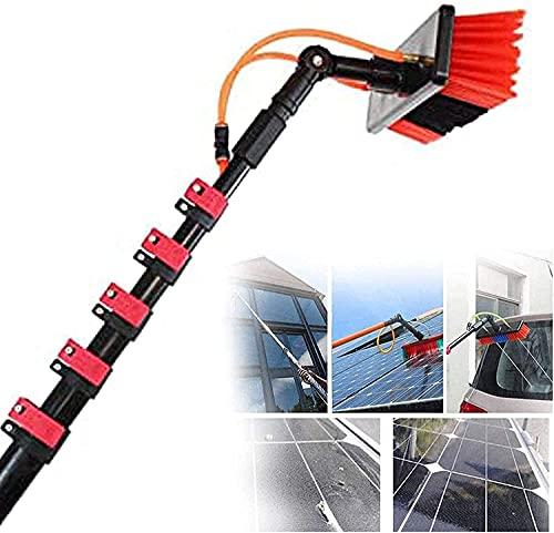 XJYDS Kit de Limpieza de Ventana de Paneles solares, Kit de Lavado de Ventanas con Poste de extensión 3.6-11 m, Usado para Limpiar Paneles solares, 20 pies / 6 m (Size : 20FT/6M)