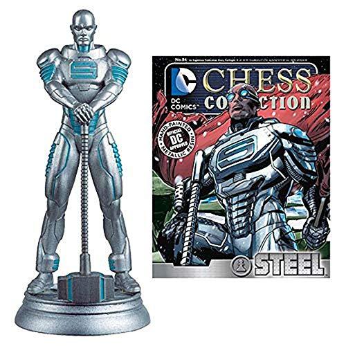 DC Superhero Steel White Pawn Superman Peón Ajedrez Pieza [SIN Revista]