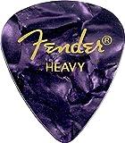 Fender 351 Shape Premium Picks (12 Pack) for electric guitar, acoustic guitar, mandolin, and bass, 351 - Heavy, Purple (Moto)