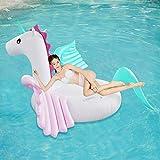 Gcxzb Schwimmreifen Luftbetten Schwimmen aufblasbare Bett Wasser Schwimmende Bett Boot Erwachsene Schwimmen Luftkissen Süßigkeiten Pegasus Aufblasbares Wasser