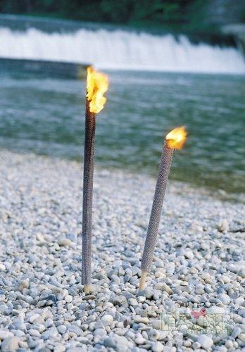 Relags Lot de 50 torches en cire Beige Taille unique