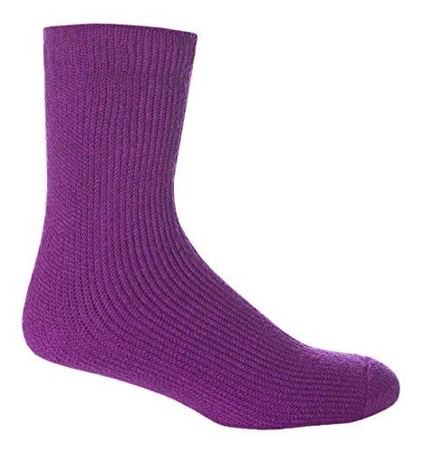HEAT HOLDERS - Los titulares de calor - Niños de invierno cálido calcetines térmicos en 8 colores y 2 tamaños (26-32 Eur, Púrpura)