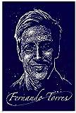 Luck7 Leinwand Druck Poster Fernando Torres und Bild für