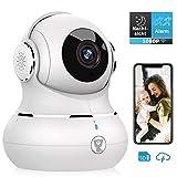 Überwachungskamera, Littlelf 1080P HD WLAN IP Kamera WiFi Kamera mit 360°Schwenkbare Baby Monitor, Zwei-Wege-Audio, Bewegungserkennung, Nachtsicht mit Alexa