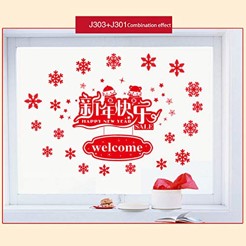 S-Wang - Pegatinas decorativas ventana diseño copo