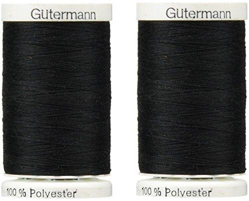 Sew-All Thread 547 Yards-Black (2 Pack)