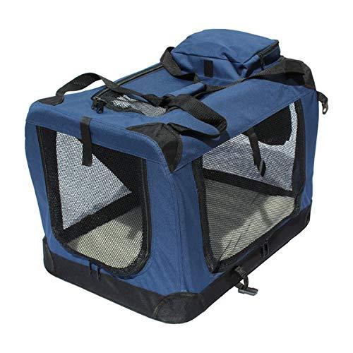YATEK Transportin para Perros Plegable entradas Laterales y Superiores con Alta Visibilidad, Confort y Seguridad para tu Mascota de tamaño M (60 x 42 x 42cm)