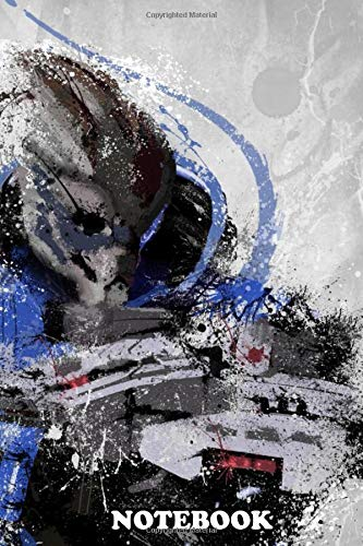 """Notebook: Garrus Mass Effect , Journal for Writing, College Ruled Size 6"""" x 9"""", 110 Pages"""