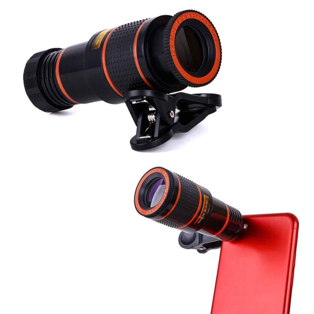 AOLVO Lente telescópica monocular para teléfono Celular, 5 en 1 HD ...