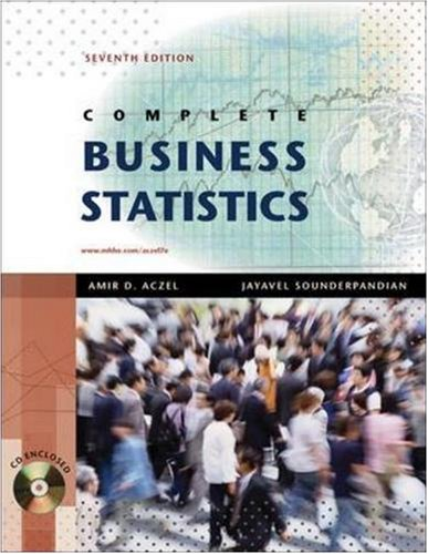 Complete Business Statistics with Student CD (The...