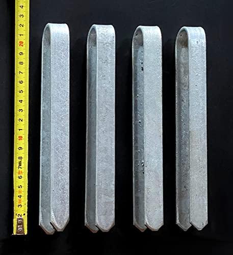 DanDiBo 4 unidades de anclajes cortos para arco de rosas, 22 cm, galvanizados, estacas de suelo, estaca de fijación