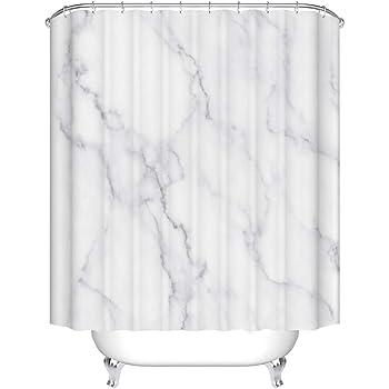 Muster-h 240 * 200cm B*H X-Labor Rideau de Douche en marbre imperm/éable avec 12 Anneaux de Rideau de Douche Lavable 240 x 200 cm