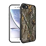 Compatible with iPhone SE 2020/7/8 Case Camouflage Tree Trunk and American Flag Pattern, [Shock-Absorbing Corners] [Scratch Resistant] [Lens Protective] Hard PC + Flexible TPU Frame Slim Phone Case