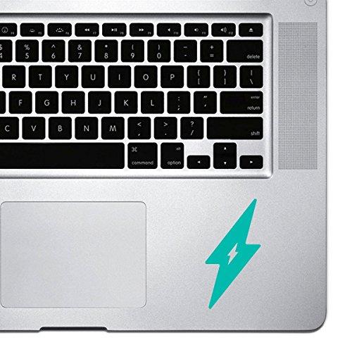stickany Palm Serie Lightning Bolt Aufkleber für MacBook Pro, Chromebook, und Laptops (Türkis)