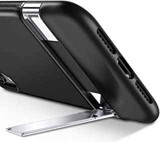ESR Metal Kickstand Case for iPhone XR, [Vertical and Horizontal Stand] [Reinforced Drop Protection] Hard PC Back with Flexible TPU Bumper for The iPhone XR, Black