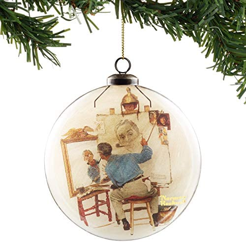 Department 56 Norman Rockwell Saturday Evening Post Self Portait Hanging Ornament 5 Inch Multicolor product image