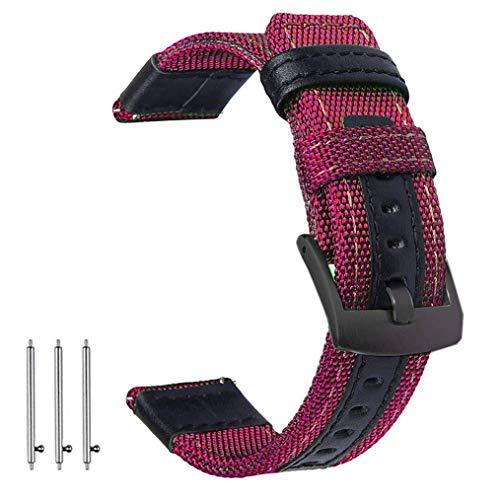OTOPO für Galaxy Watch 46mm Armband & Gear S3 Frontier Armbands, 22mm Nylon Ersatz Riemen Bänder Armband für Samsung Galaxy Watch 46mm & Gear S3 Smartwatch - Burgund