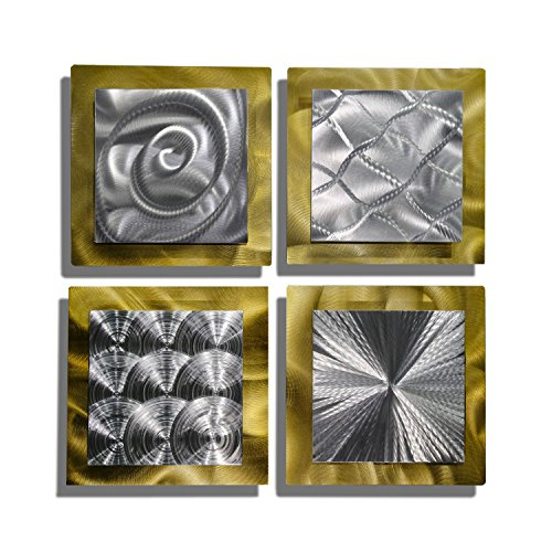Statements2000 Gold Metal Wall Art Decor, Set of 4...