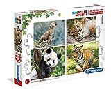 Clementoni- Puzzles 20+60+100+180 Piezas Cachorritos, Color Multicolor. (21409.9)
