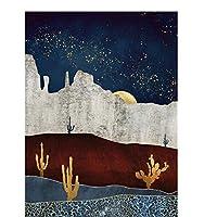 BGGGTD ポスター 抽象的な贅沢な写真家の装飾ポスター北欧のキャンバス絵画壁アートミニマリストの日の出と日没のプリントベッドームの装飾-50x70cmx1フレームなし