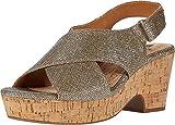 White Mountain Shoes'COVINGTON' Women's Sandal, GOLD/GLITTER, 8 M