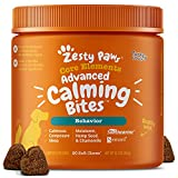 Zesty Paws Dog Calming Bites - Stress Relief Support Supplement Helps to Calm Anxiety Barking Separation and Travel Issues